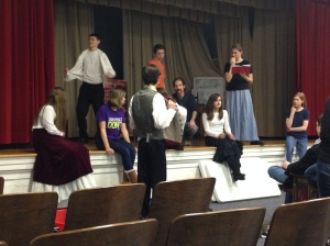 practicing for christmas carol