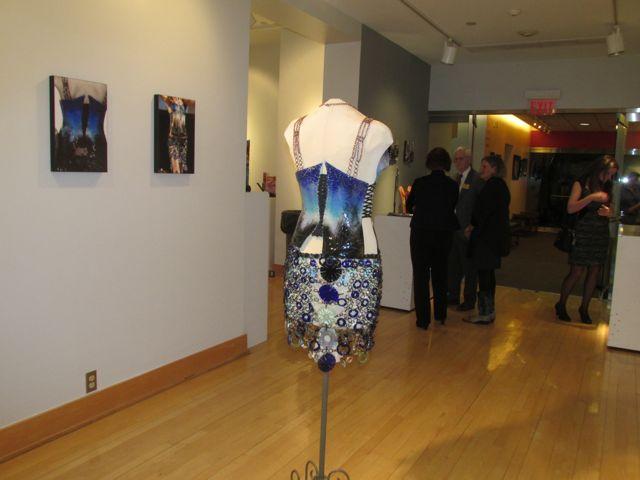 back view of DiMassimo glass dress