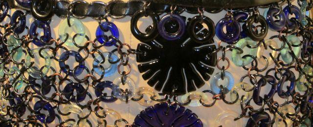 Cara DiMassimo glass dress - detail