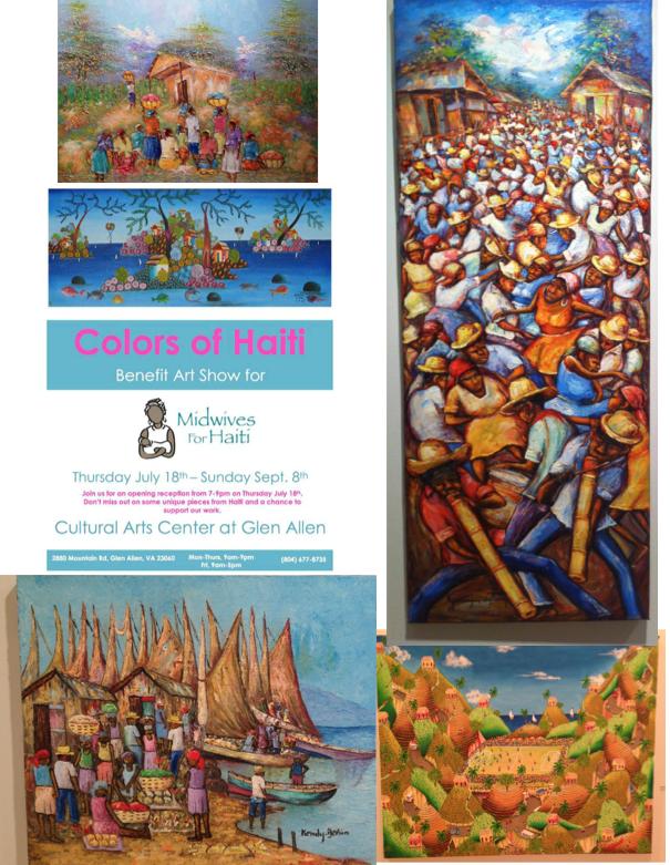 Colors of haiti art show at GACC 2013
