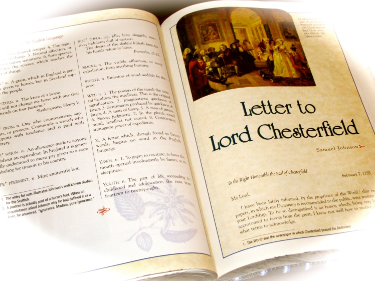 inside the text with samuel johnsons letter to chesterfield
