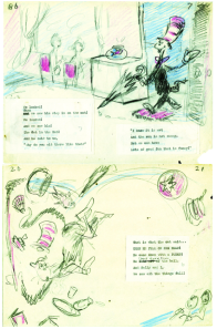 original sketches from dr. seuss