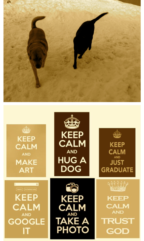 sepia saturday_doggies_keep calm posters