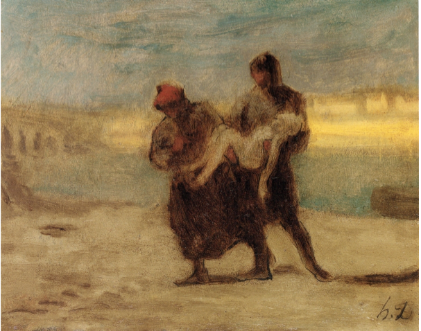 the rescue by daumier