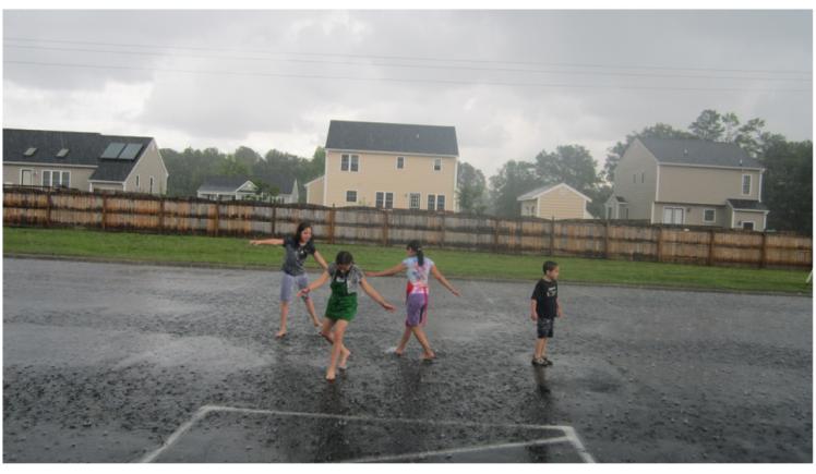 joyful kids playing