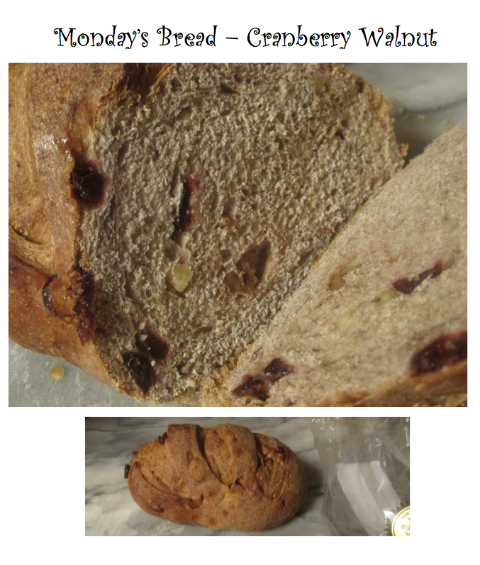 monday walk priorhouse 2014 cranberry walnut bread