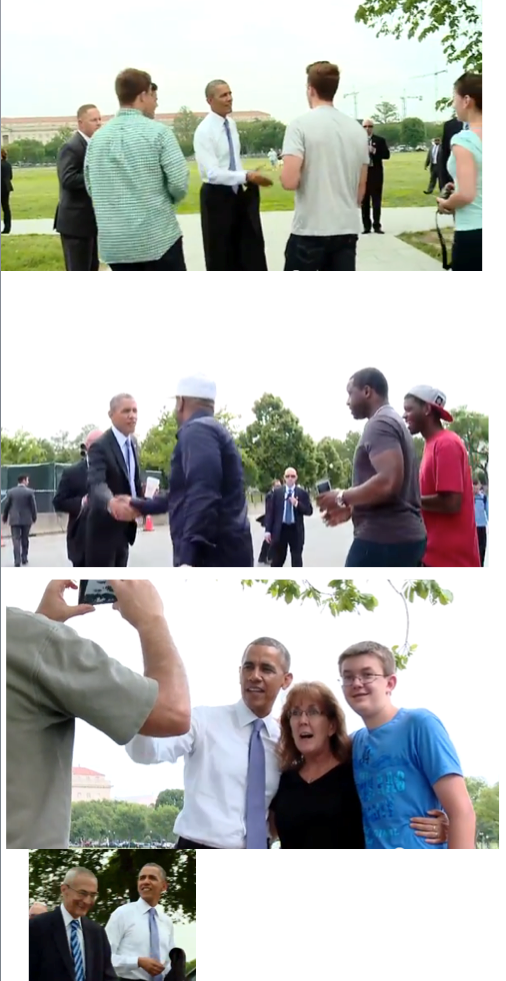 president obama takes a walk in May priorhouse 2014