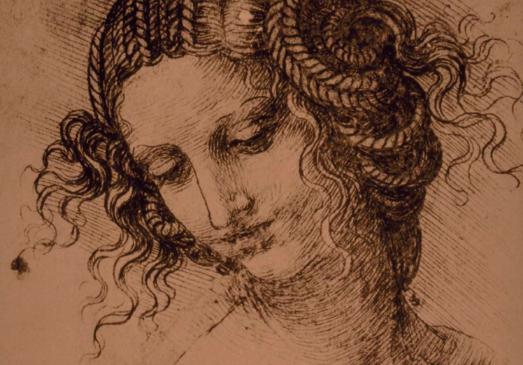 Study for the head of Leda, Leonardo da Vinci, 1505–07