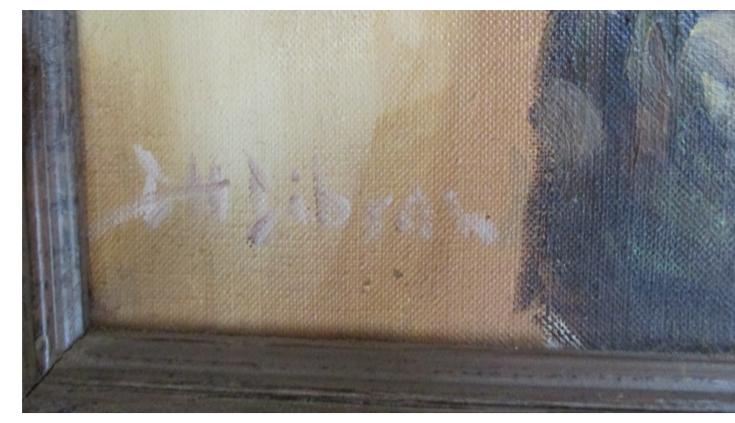 artist signature on bullman painting