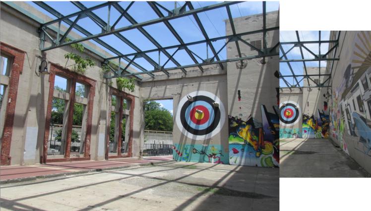 contrast - legs from bullseye art painting street art 2 - priorhouse 2014