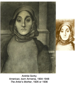gorky - charcoal drawing of artist's mother - AIC - priorhouse 2014