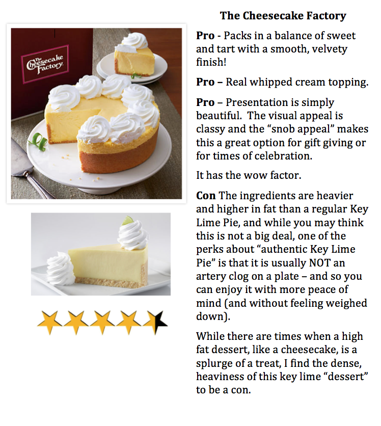 priorhouse 2014 cheesecake key lime review