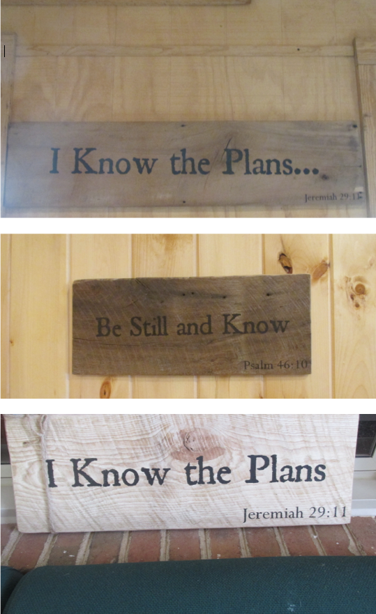 be still and know signs - priorhouse 2014