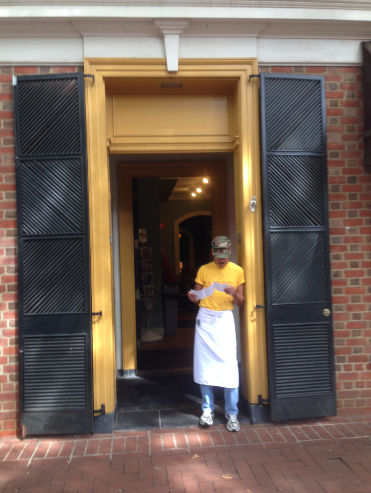 street portrait-3-man in doorway charlottesville va 2014 - priorhouse