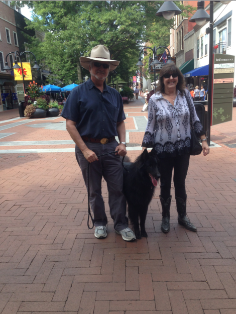 Street Portrait #8 - A couple and their dog. We ran into them a few times today.