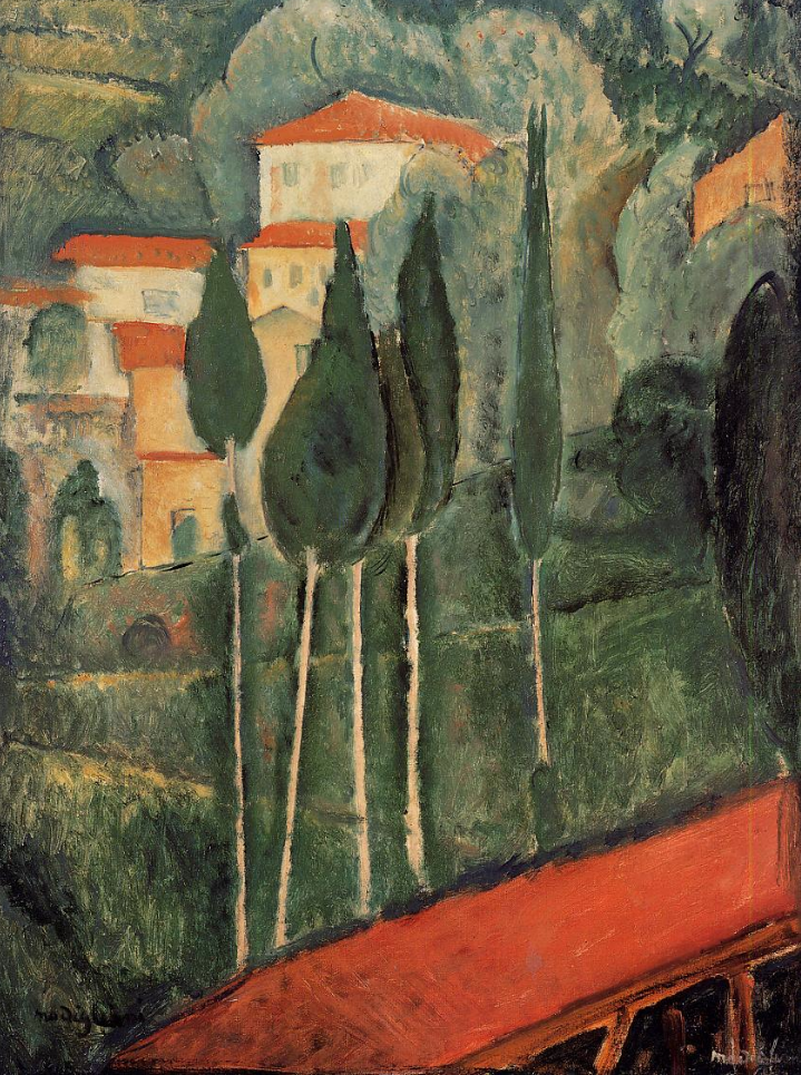 Landscape -southern France, 1919  Amedeo Modigliani