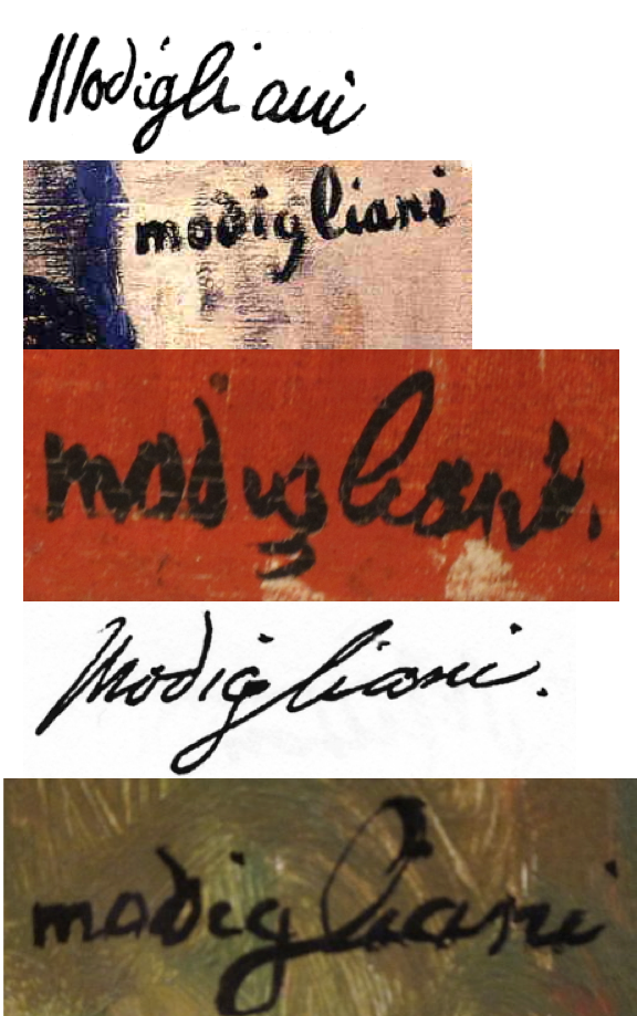 modigliani signatures