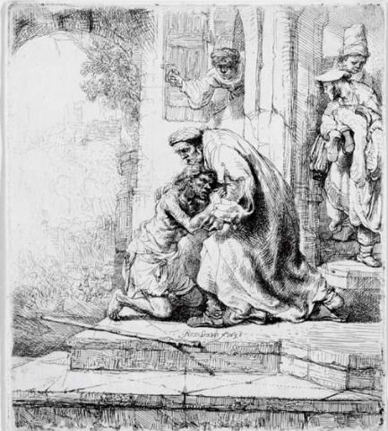 Rembrandts 1636 etching