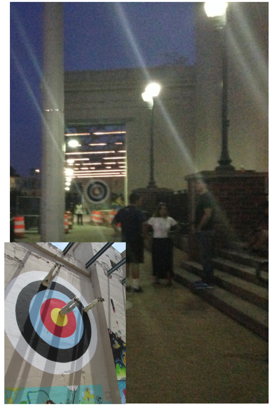 rva art wall with bulls eye target