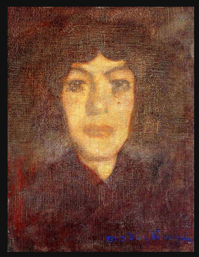 Woman's Head with Beauty Spot, 1906 modgliani