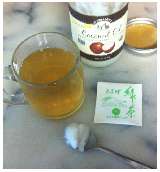 coconut oil and green tea - wonderful healing combination - priorhosue 2014