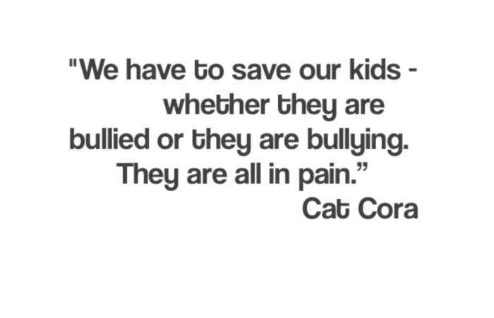 stop bullying quote by cat cora