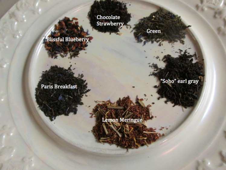 talbott loose leaf tea on a plate with mother of pearl paint -priorhouse 2014