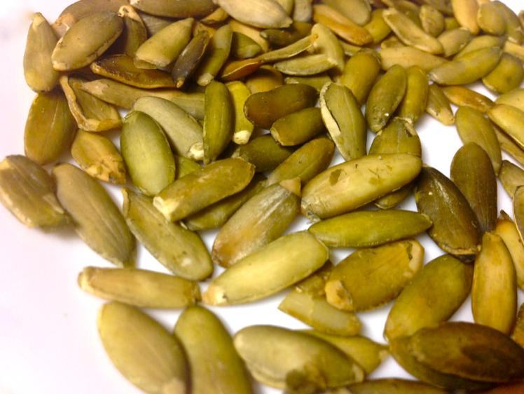green raw pumpkin seeds