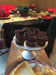 looking down at new years cupcakes