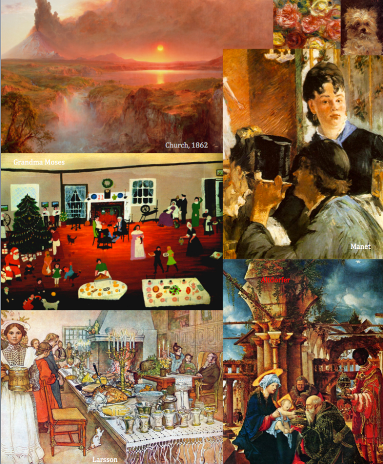 priorhouse xmas art collage - 2014