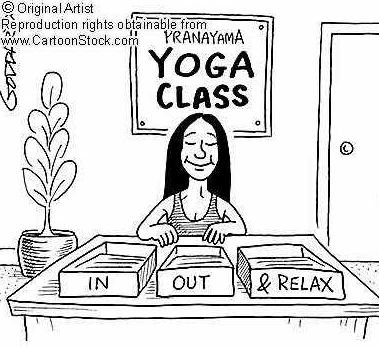 yoga cartoon from cartoon stock