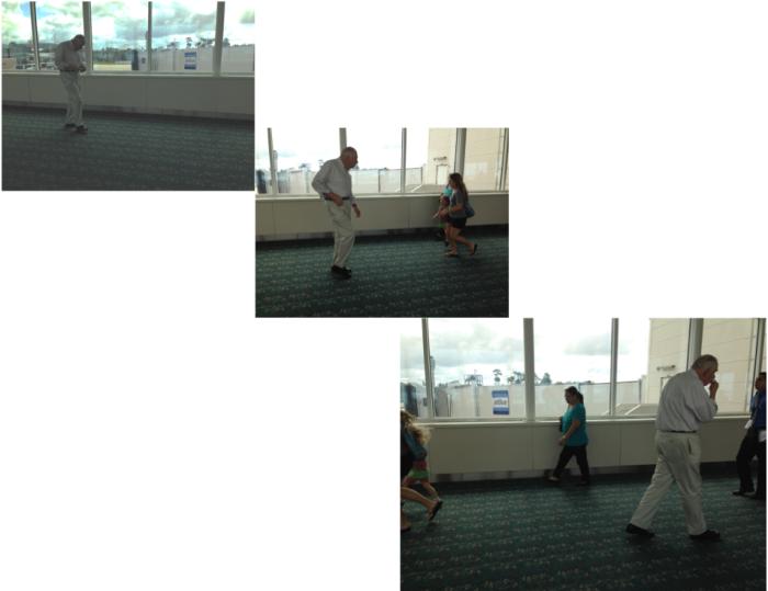 orlando airport-man walking trio