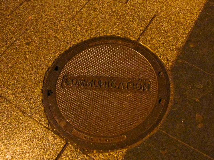 communcation on manhole cover