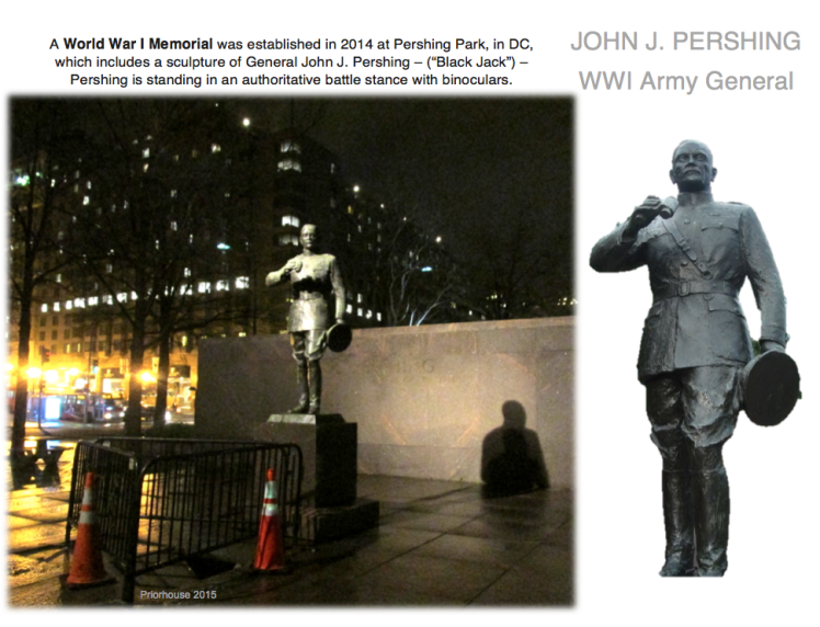 john j pershing washing dc statue memorial