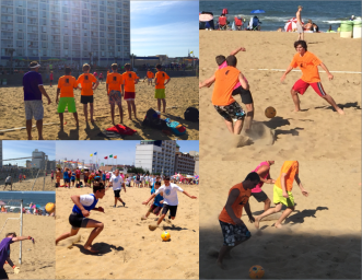Beach soccer is a tough sport - and the bright colors reminded me of the wpc for VIVID.