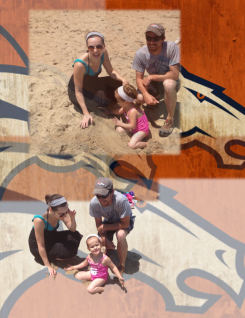 """Joy is…. being far from Colorado - and then finding a """"pair of Bronco fans"""" - who were visiting the east coast from Indiana!"""