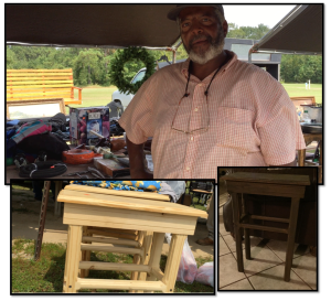 I also did buy a little tea table - from this amazing craftsman