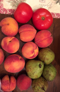 we brought home organic produce -