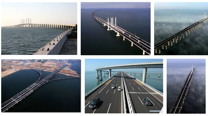 credit: Google images, Jiaozhou Bay bridge