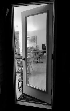 chairs thru door