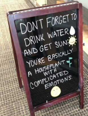 sign drink water