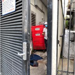 Miami Police back gate