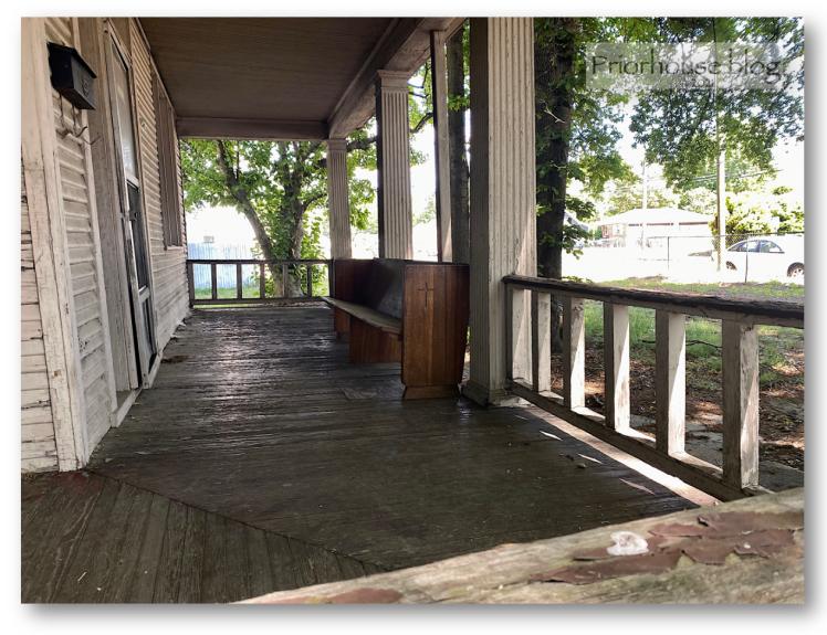 doors-porch-old va church pew