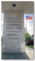 doors war mem VA freedom quote sacrifices reminder