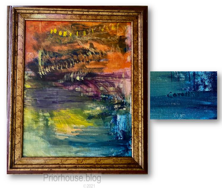 golden art by caroline abstract 1