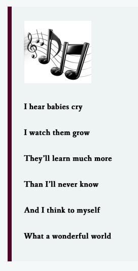 lens wonderful world lyrics 4