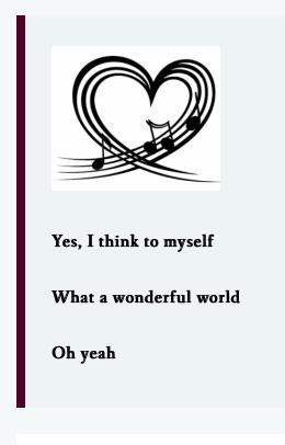 lens wonderful world lyrics 5